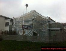 Regnintäckt fasad