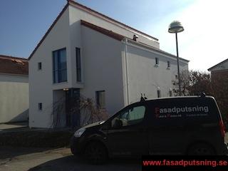 Hjärup - Renovering av enstegstätad fasad - 2st hus