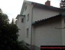 Färdigställd fasadputs