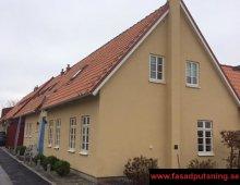Vintrie - Renoverad enstegstätad fasad