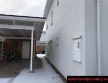Brf Kaptenen - Vi bytte ut en enstegstätad putsfasad och monterade upp ett ventilerat fasadsystem StoVentec